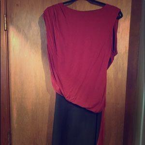 ASOS asymmetrical cutout back midi dress size 6